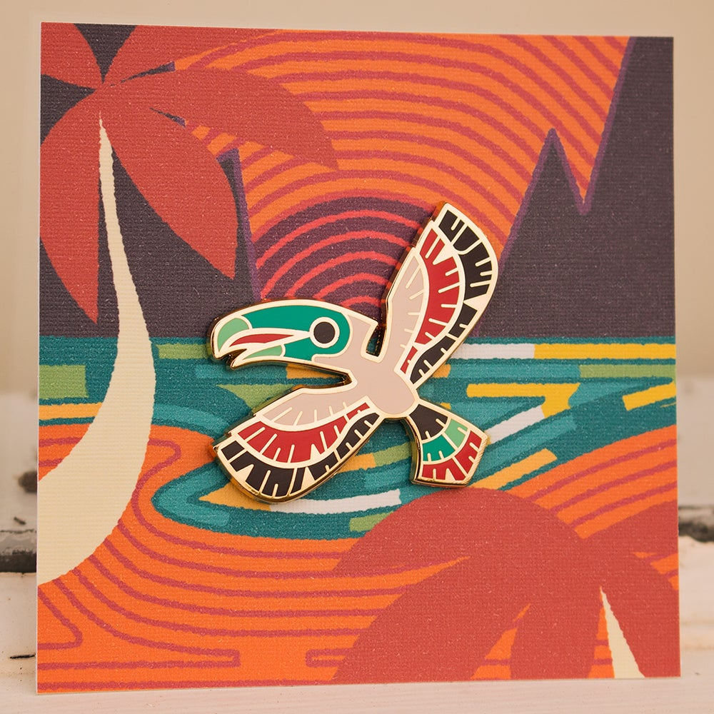 Image of Sundown Toucan Enamel Pin