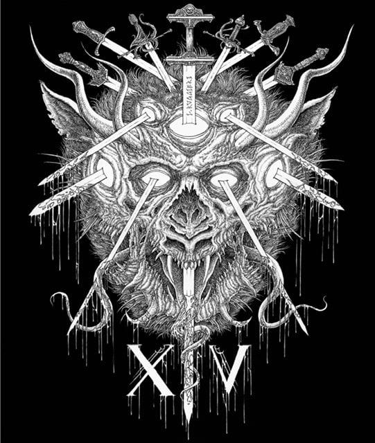 Image of MARYLAND DEATHFEST XIV original artwork
