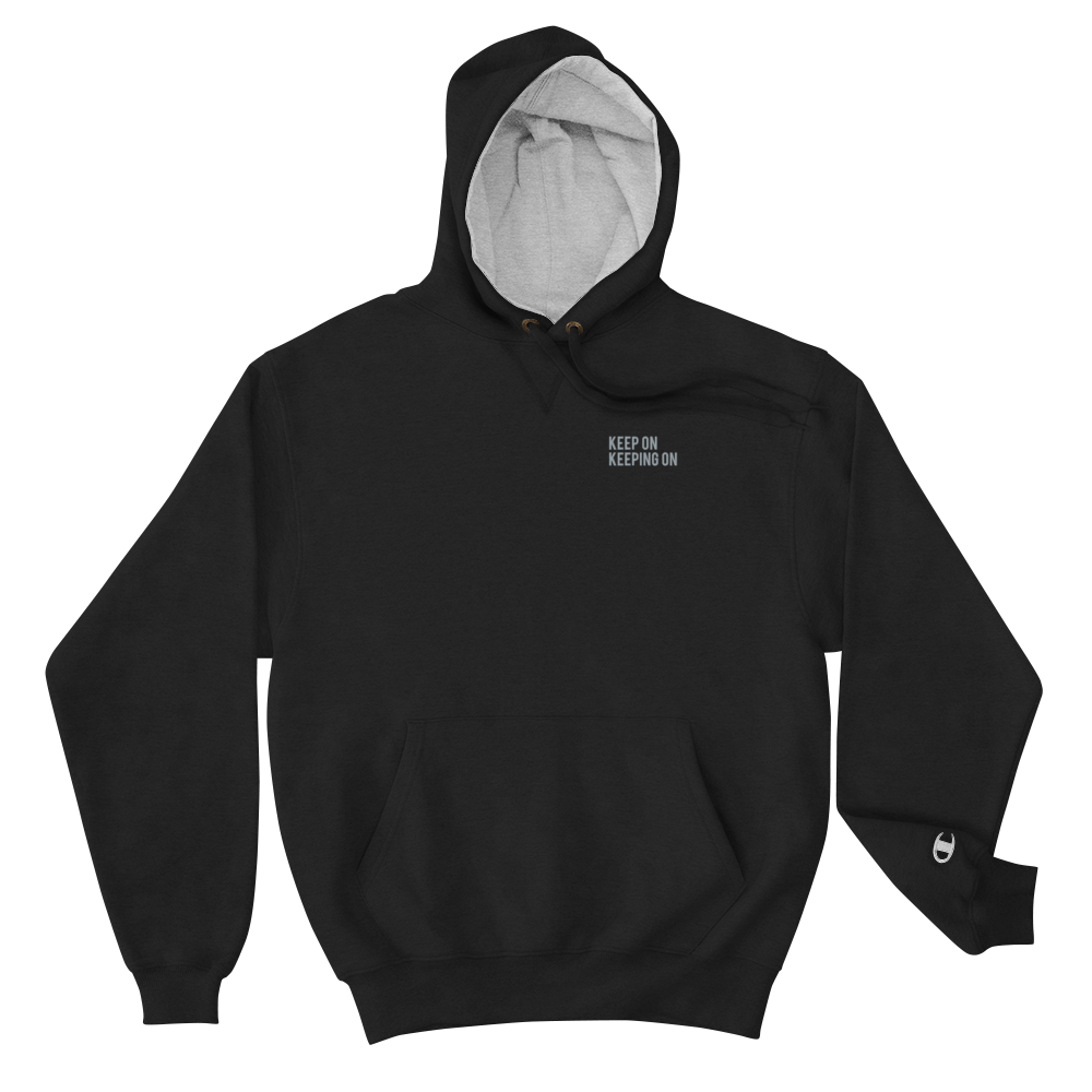 "Image of KEEP ON ""KEEPING ON"" Champion Hoodie"