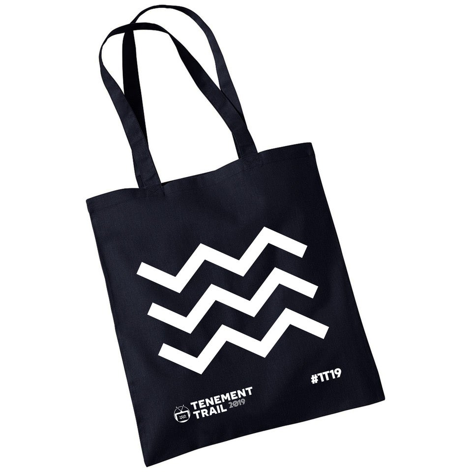 Image of TENEMENT TRAIL BLACK TOTE BAG