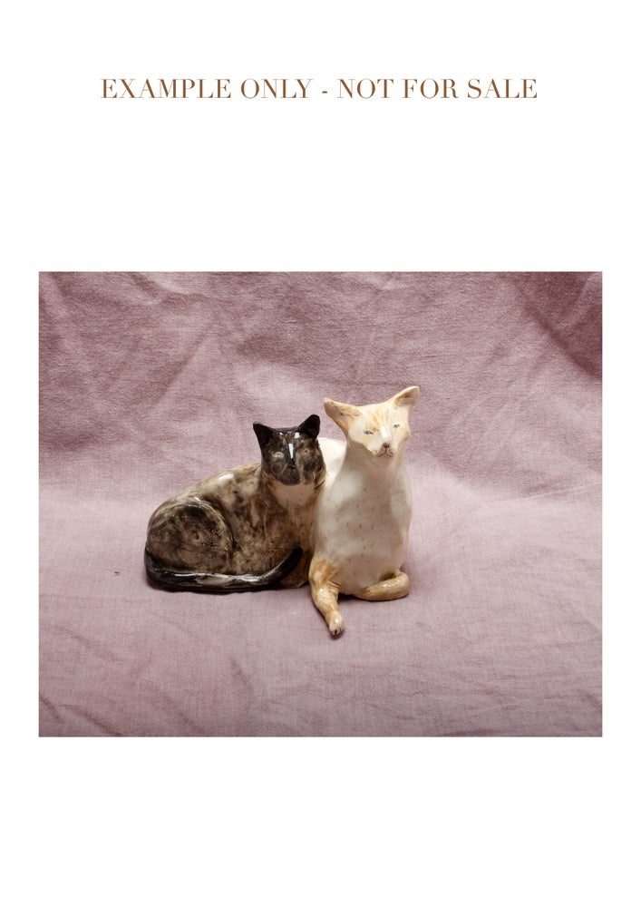 Image of 'Together' two pets in one figurine