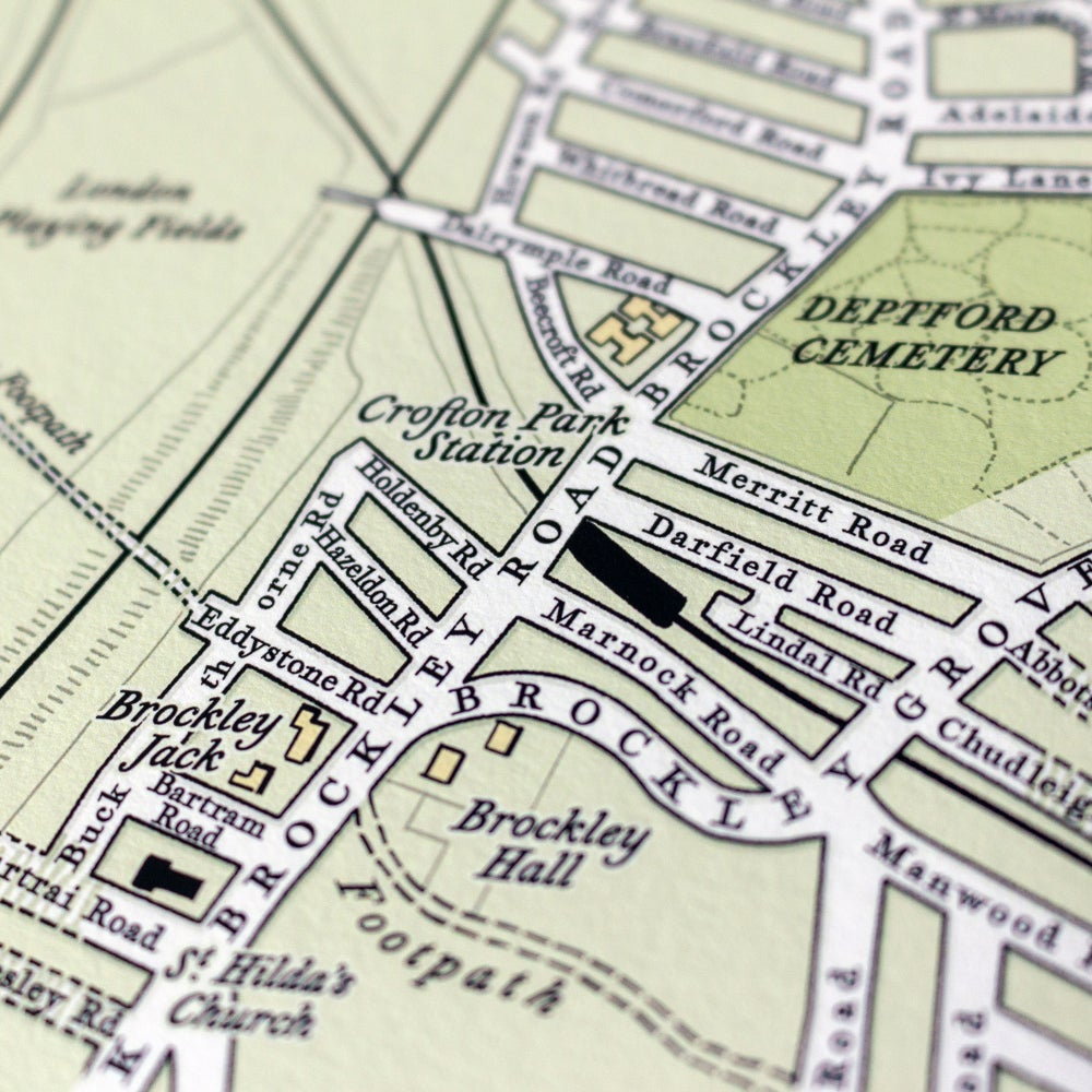 Image of One Hundred Years Map trio – Crofton Park - Honor Oak Park - SE4 - SE23