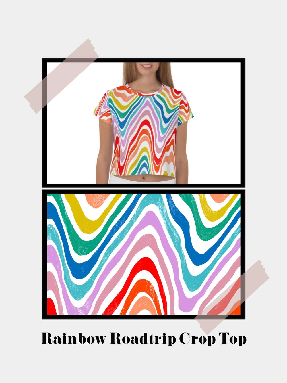 Image of Rainbow Roadtrip Crop Top