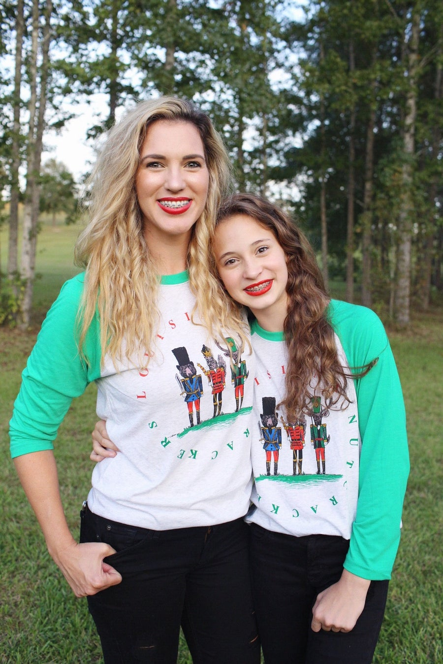 Image of Adult Louisiana Nutcracker Raglan