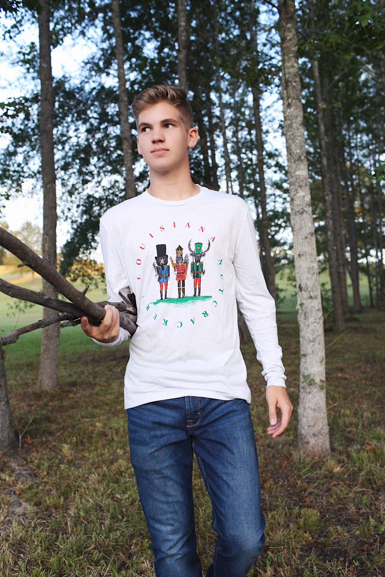Image of Adult Long Sleeve Louisiana Nutcracker Tee