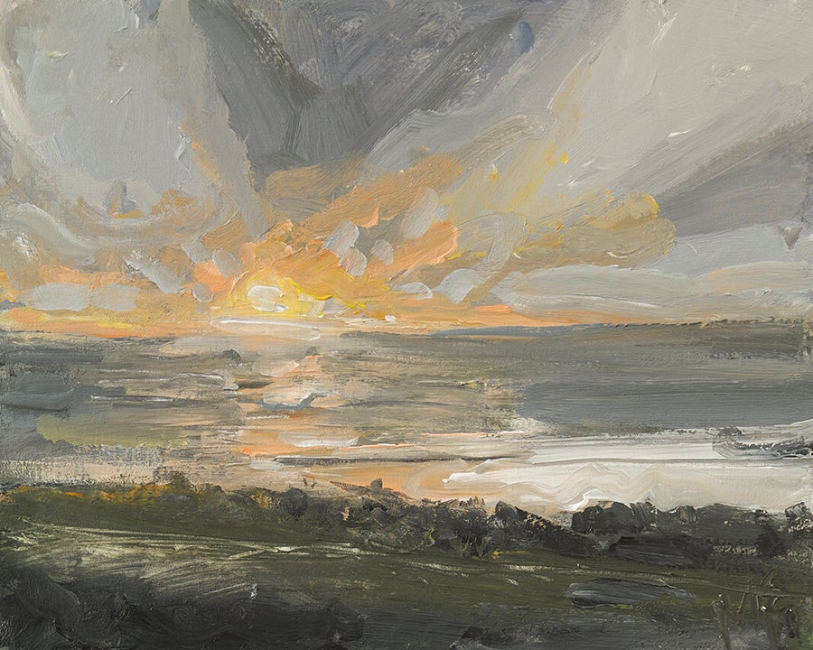 Image of Welsh Sunset Study (Original Painting)