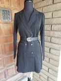Girl Boss Tuxedo Dress