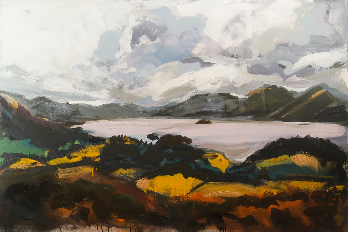 Image of Derwentwater from Castlehead Woods (Original Painting)