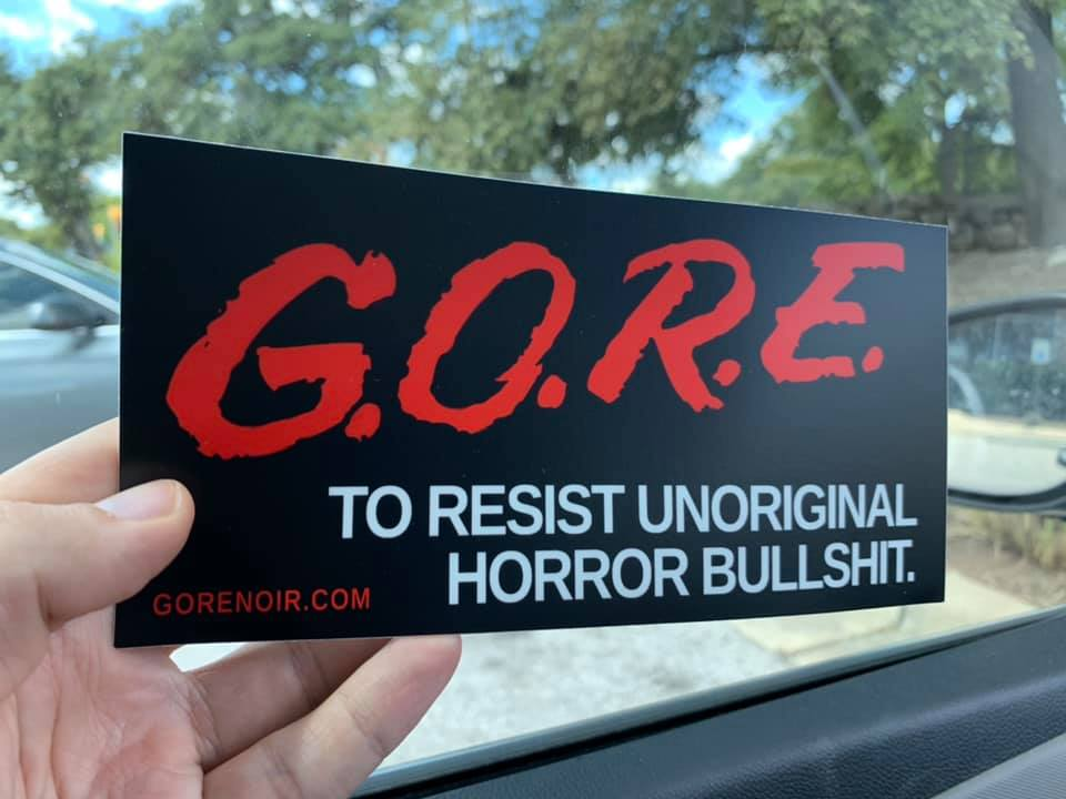 "Image of G.O.R.E. Sticker LARGE 3.75""x7.5"" Matte Vinyl"