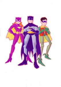 Image of Caped Crusader and friends A4 print