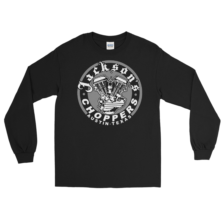 Image of Black panhead logo long sleeve