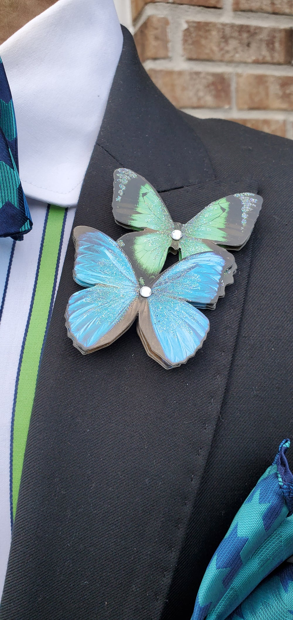 Image of 3D BUTTERFLY EFFECT LAPEL