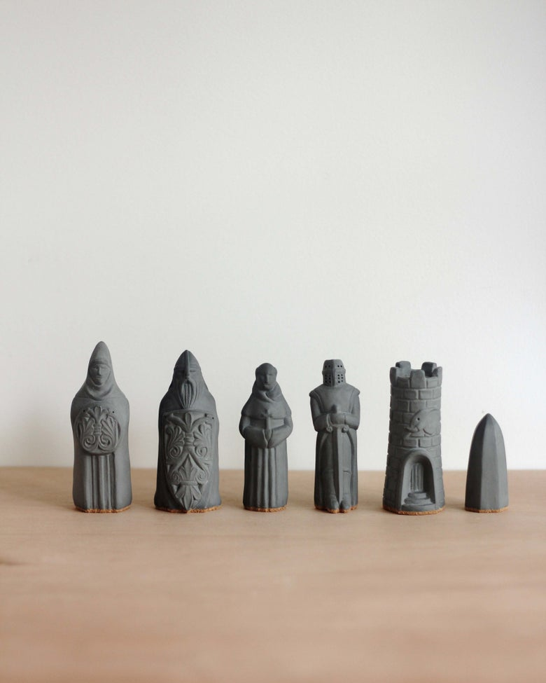 Image of Chess Figurines - Charcoal - Sold Individually