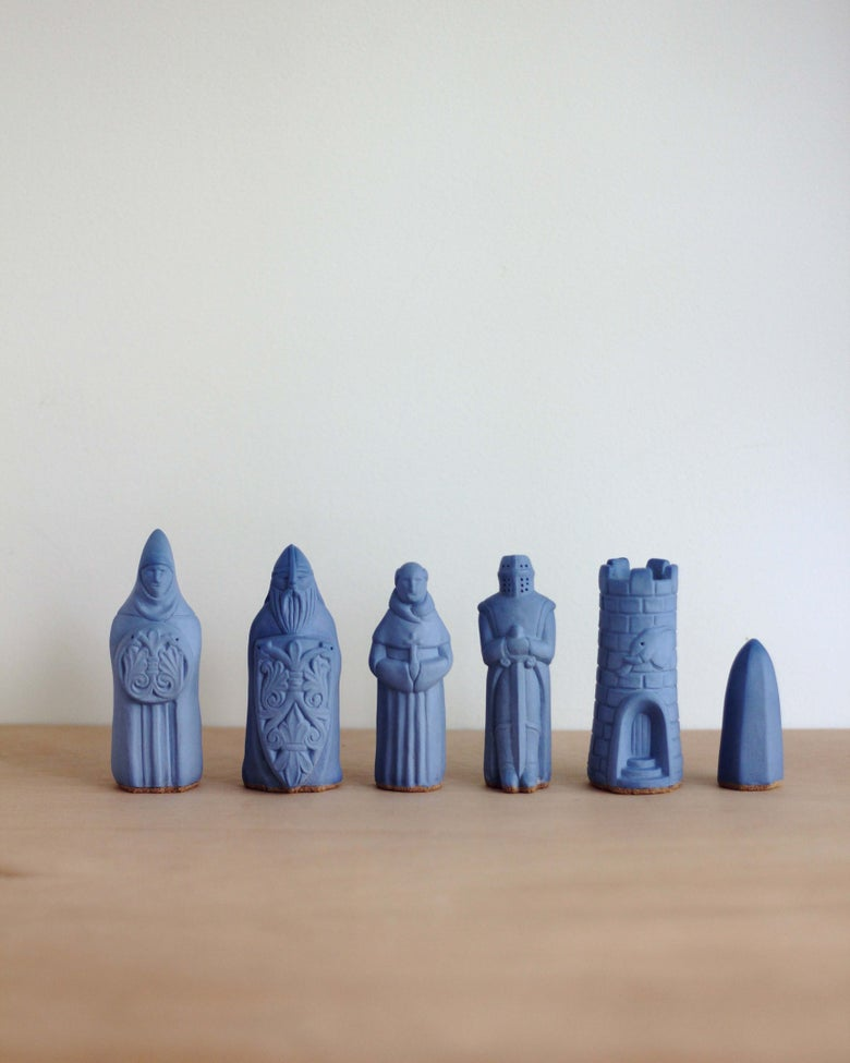 Image of Chess Figurines - Blue - Sold Individually