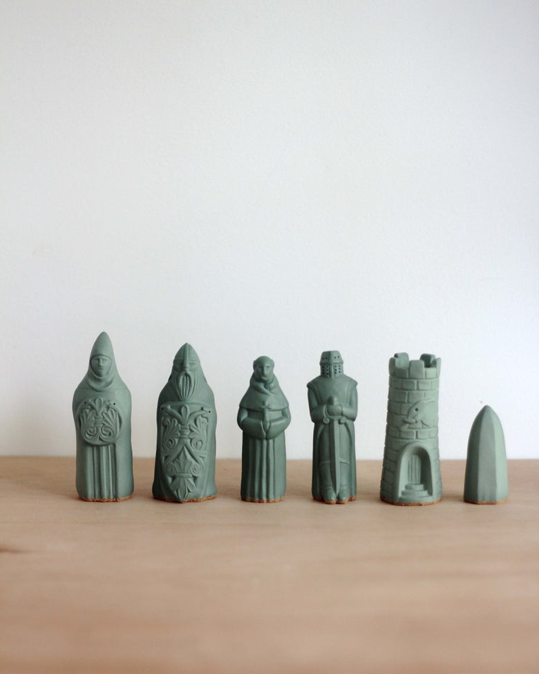 Image of Chess Figurines - Sage Green - Sold Individually