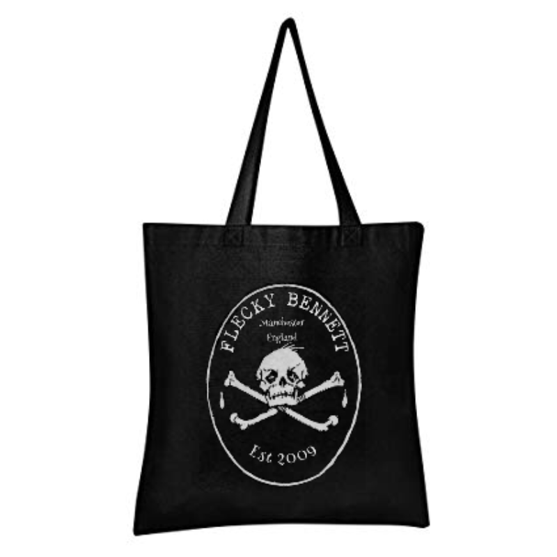 Image of Flecky Bennett 100% Cotton Hand Printed Tote Bag Free P & P