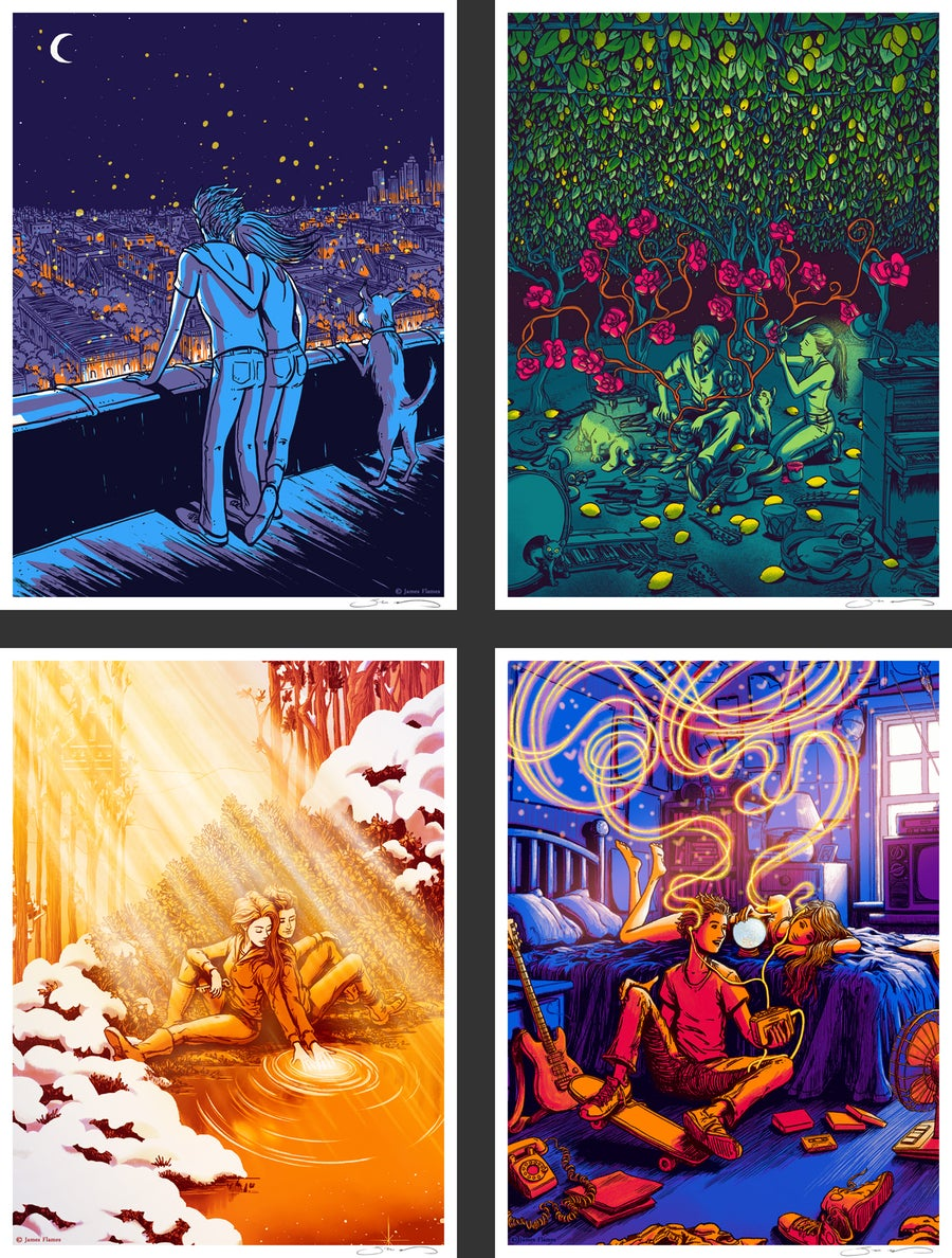 Image of Set of All Four Prints