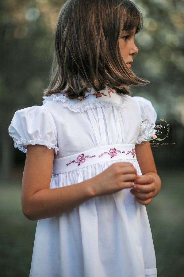 Image of Red Ribbon Peasant Legacy Dress