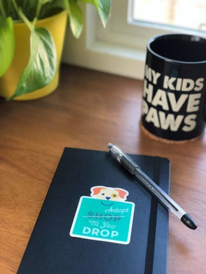 """Image of """"Adopt 'Til You Drop"""" Stickers"""