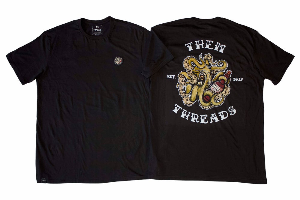 Image of THEM - Calamari Patch T Black