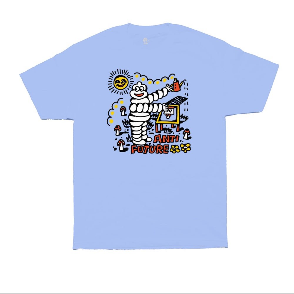 Image of DAY TRIP TEE - IRIS BLUE
