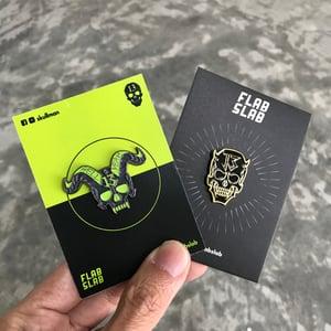 Image of Skullman enamel pin