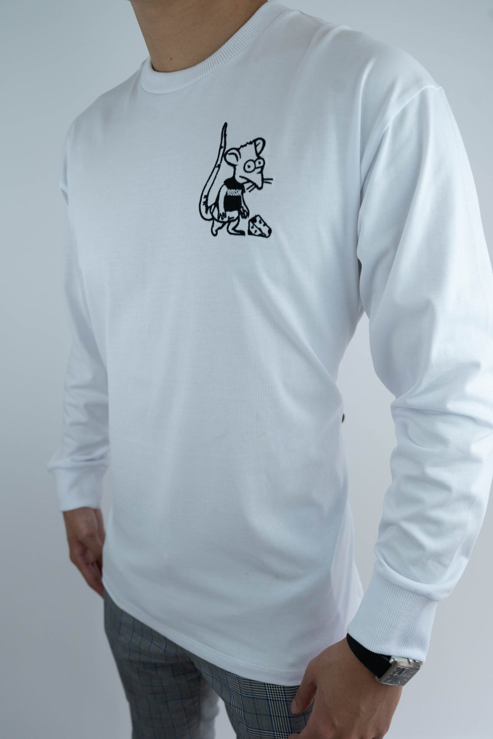 Image of Rooshi L/S White Ratboy Shirt