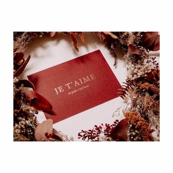 Image of Carte JULIETTE (avec dorure & enveloppe)