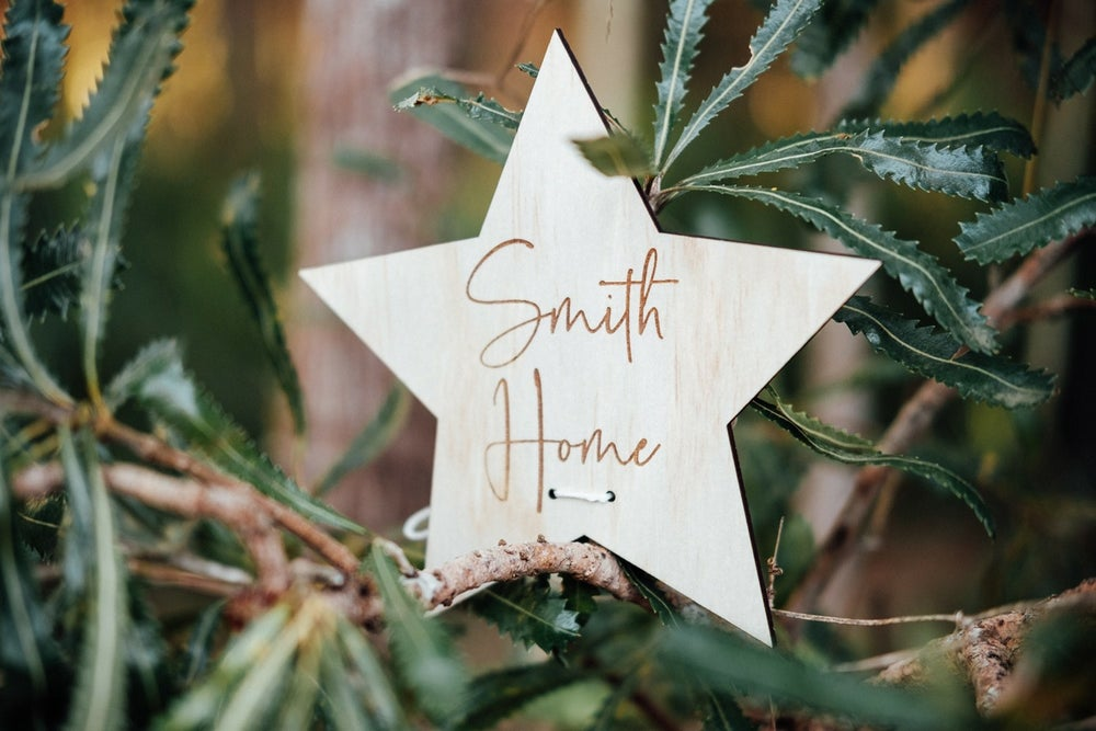 Image of PERSONALISED CHRISTMAS TREE STAR