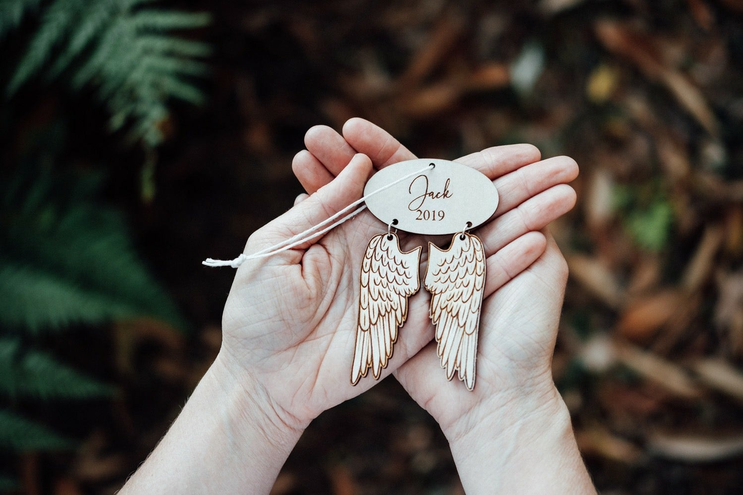 Image of PERSONALISED ANGEL ORNAMENT