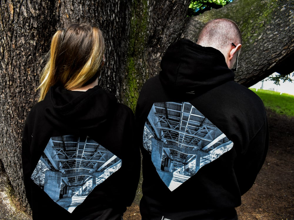 Image of Junction 2 Bridge Hoodie (Black)