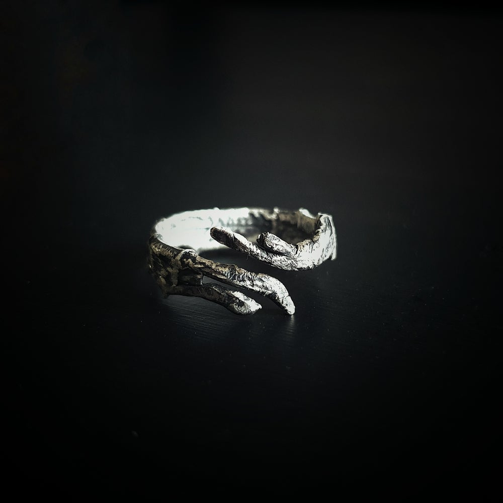 "Image of ""RADIX MALORUM II"" adjustable sterling silver ring"