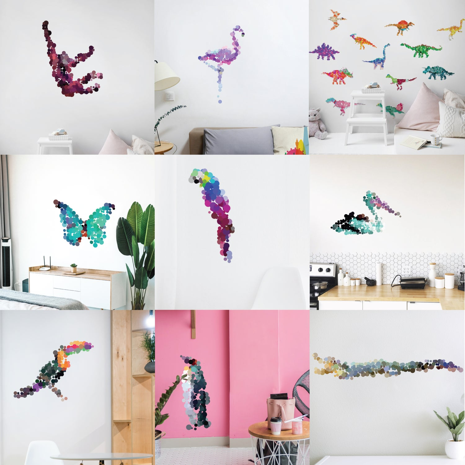 Image of Animals wall decals