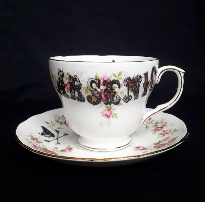 Image of Arsenic teacup and saucer-large