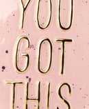 Image of You Got This Pink and Gold Plate