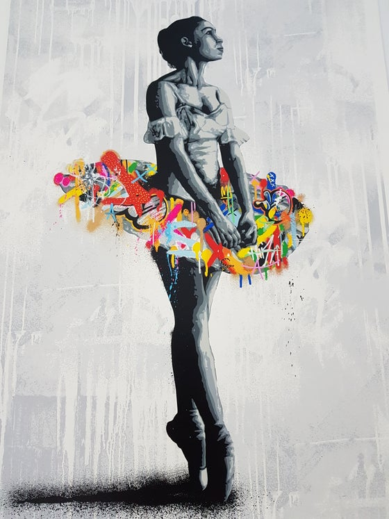 "Image of MARTIN WHATSON - ""EN POINTE"" HAND FINISHED - UNIQUE EXAMPLE - 80CM X 56CM"
