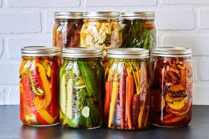 Image of Ray's All Natural Pickled Vegetables (green tomatoes/broccoli/carrots/sweet red peppers)