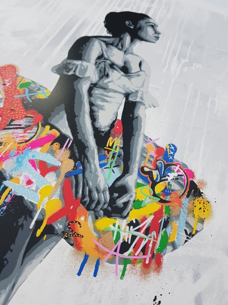 """Image of MARTIN WHATSON - """"EN POINTE"""" HAND FINISHED - UNIQUE EXAMPLE - 80CM X 56CM"""