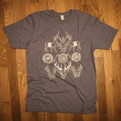 Image of Tree rings 'n Antlers tee - heather purple