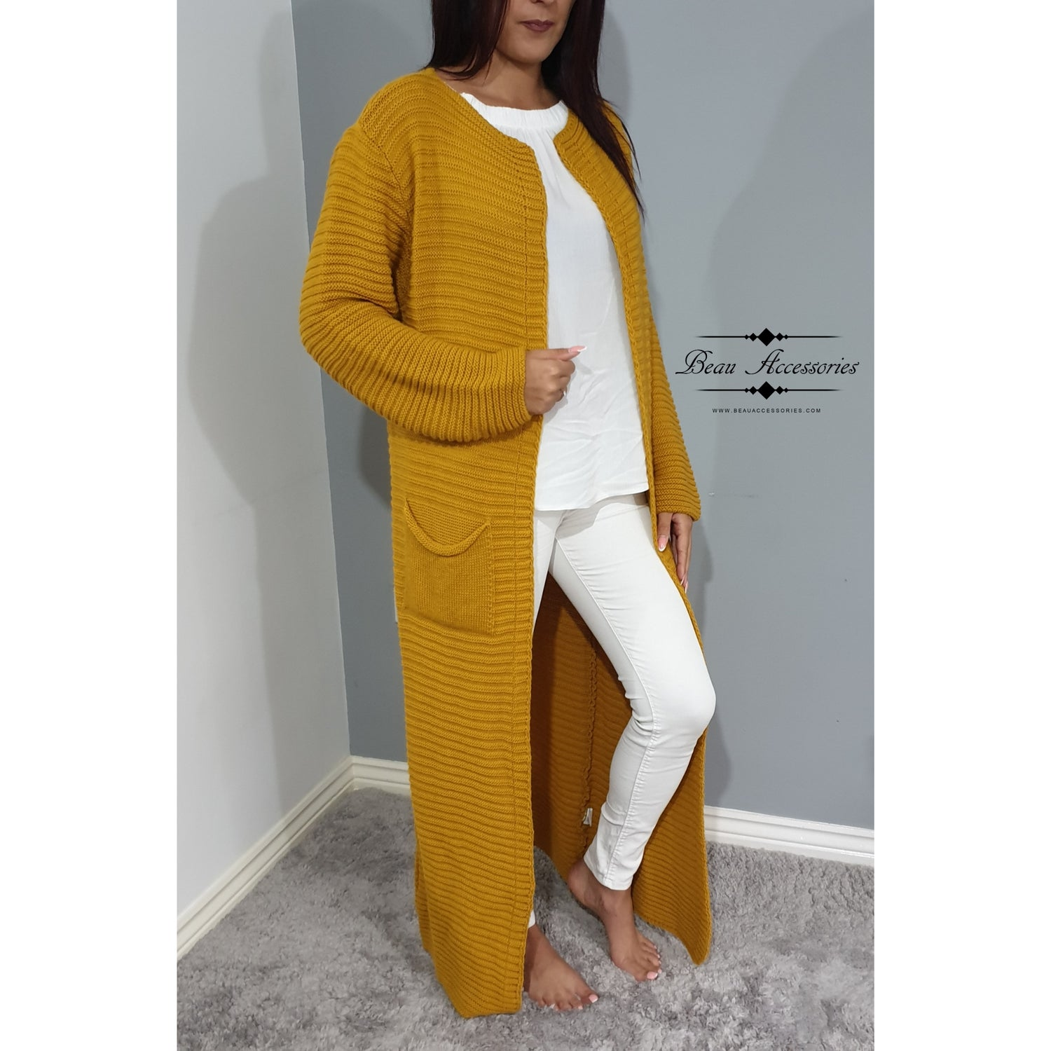 Image of Ribbed Maxi Cardigan (ALL COLOURS)