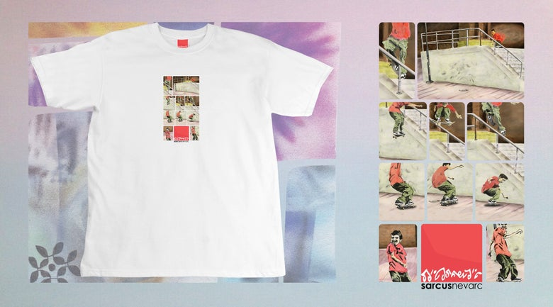 Image of Pops X Brooklyn Banks t-shirt WHITE