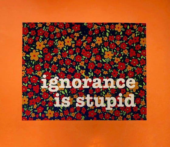 Image of Ignorance is Stupid - 11 x 14 print