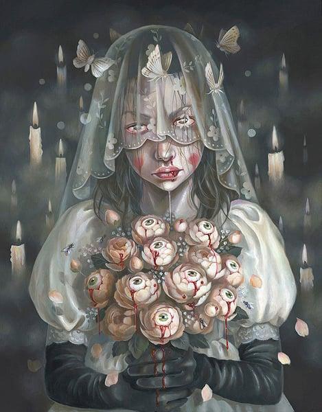 Image of Hanna Jauen 'Vigil' original art