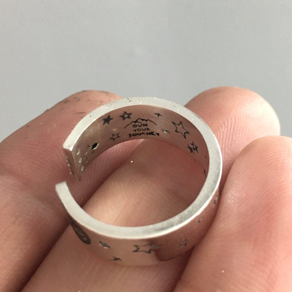 Image of Open moon ring