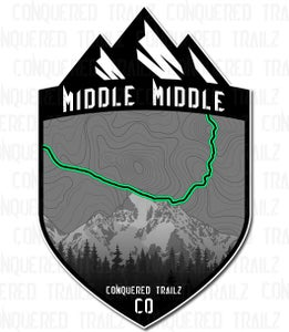 """Image of """"Middle Middle"""" Trail Badge"""