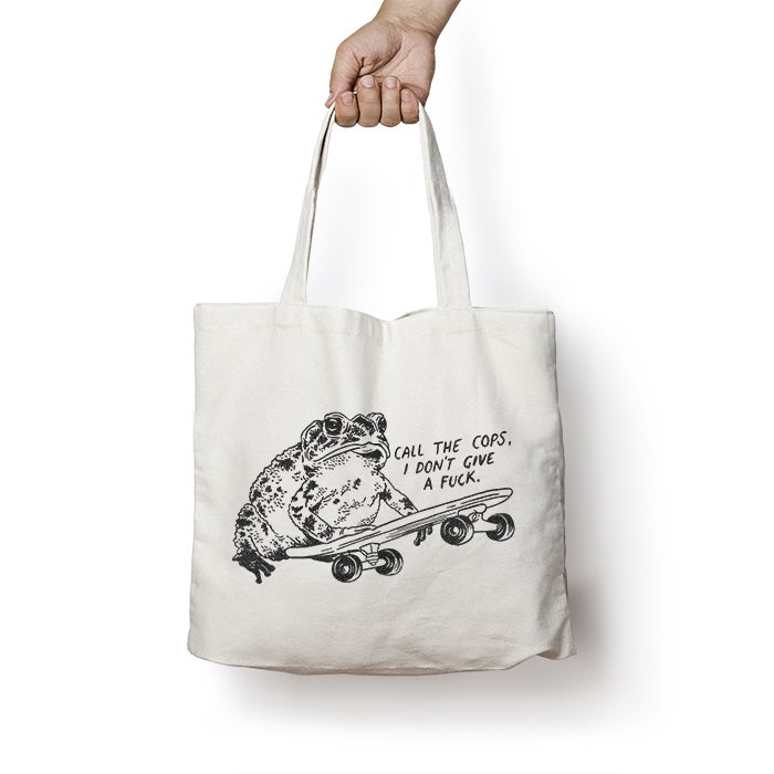 Image of I.D.G.A.F Cotton Tote Bag