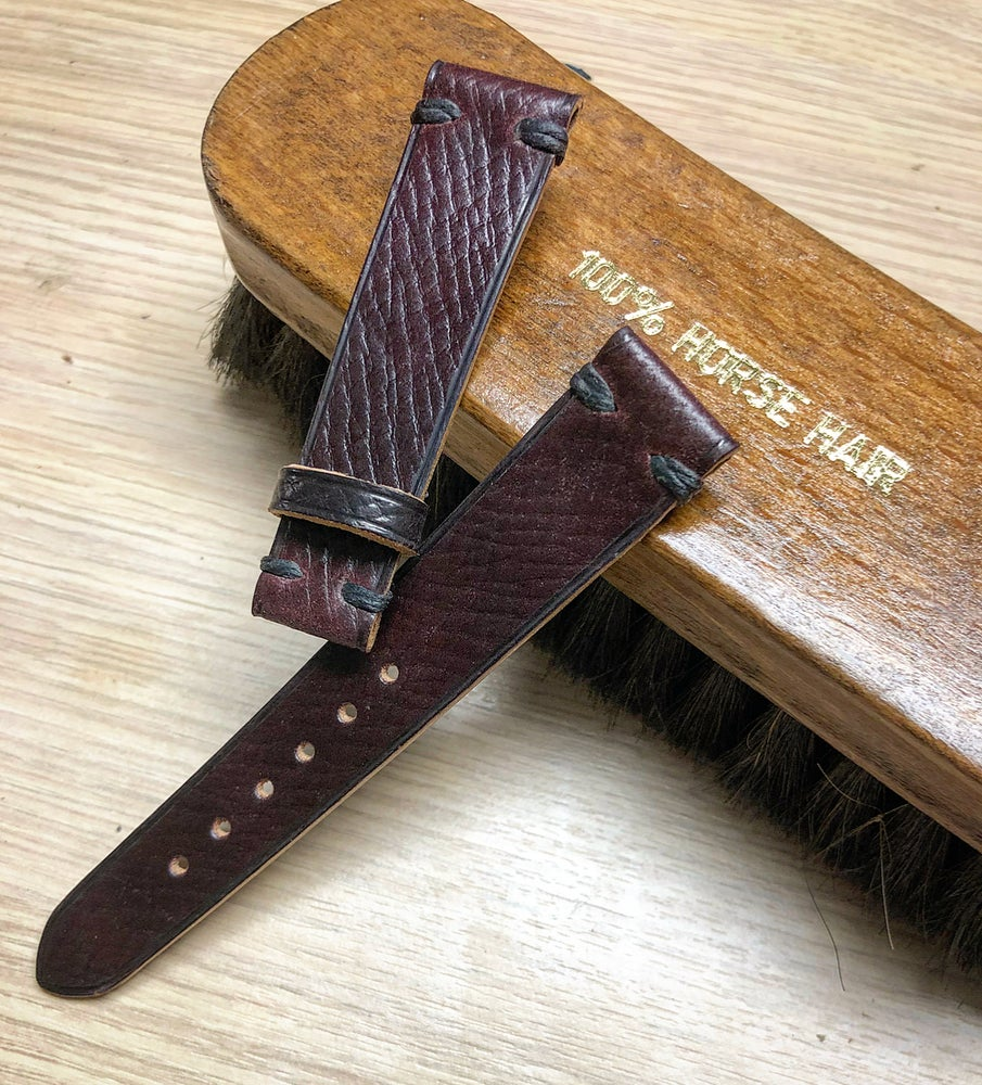 Image of Russian Grain Shell Cordovan watch strap - Horween unlined #8