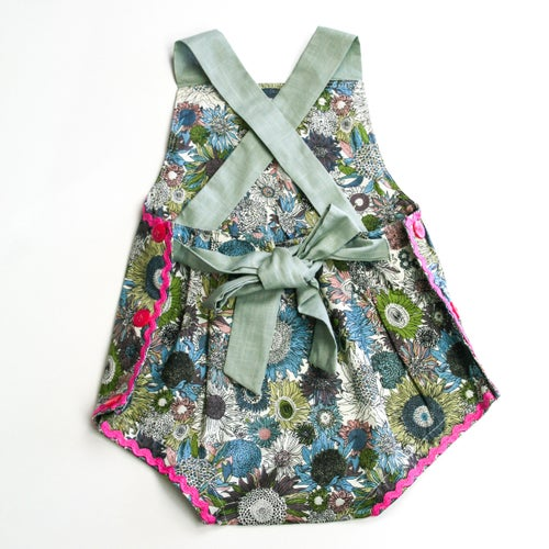 Image of Vintage Bambini Playsuit - Sunflower Bloom