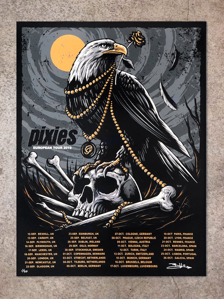 Image of Pixies European Tour 2019 Posters