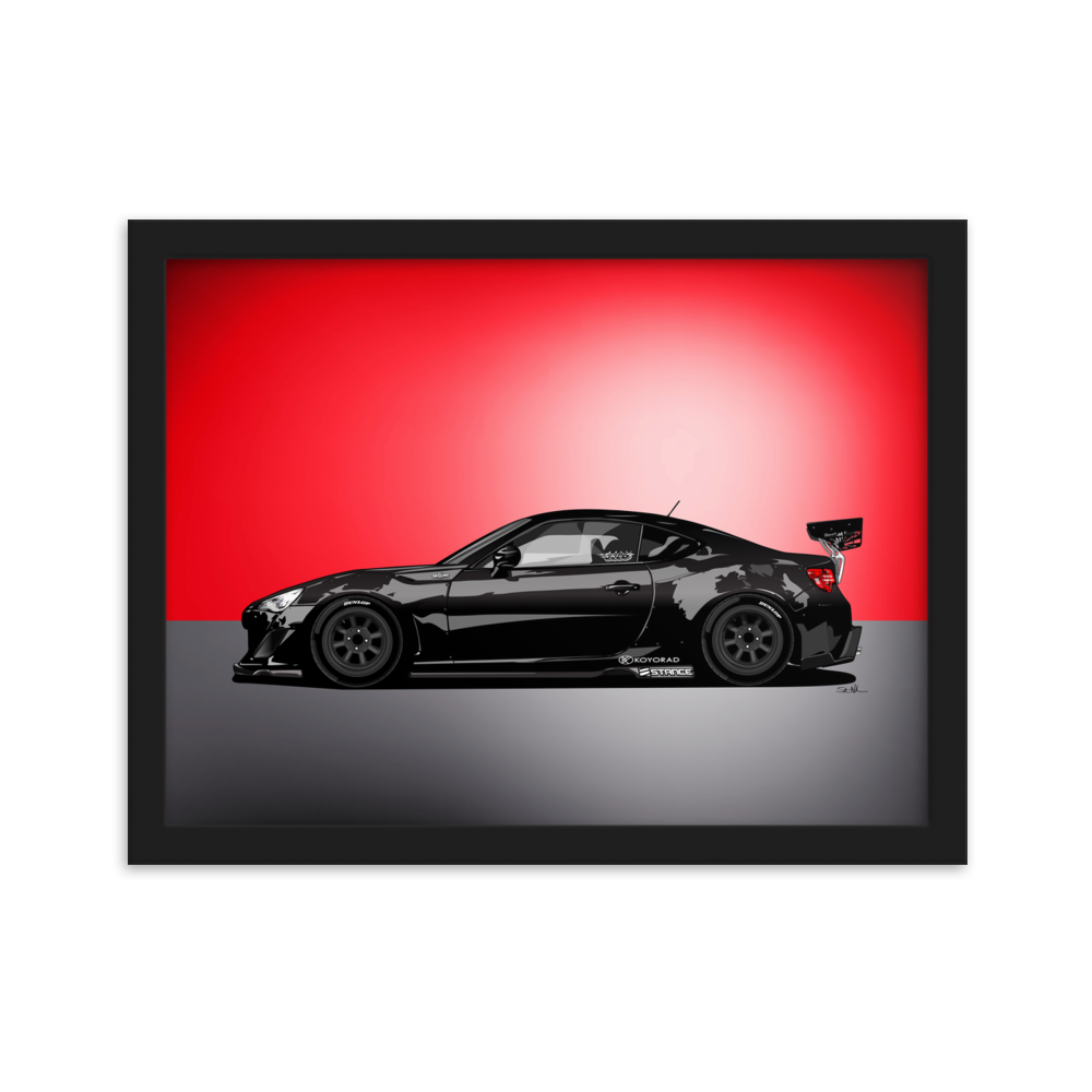 "Image of 5586 ""86 ROCKET BUNNY"" Framed Poster"